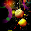 Royalty-Free Stock Vector Image: Christmas - New Year shine card with golden balls Eps10 vector