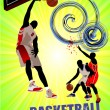 Basketball poster. Vector illustration - Stok Vektr