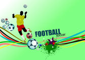 Poster Soccer football player. Colored Vector illustration for d — Stock Vector
