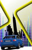 Abstracte hi-tech achtergrond. gekleurde vectorillustratie voor des — Stockvector