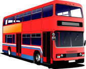 London double Decker red bus. Vector illustration — Stock Vector