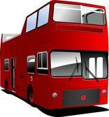 En öppen toppade tour london buss. vektor illustration — Stockvektor