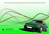 Composizione astratta aziendale verde — Vettoriale Stock