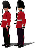 Vector image of beefeater isolated on white — Stock Vector