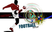 Poster Soccer football player. Colored Vector illustration for d — Cтоковый вектор