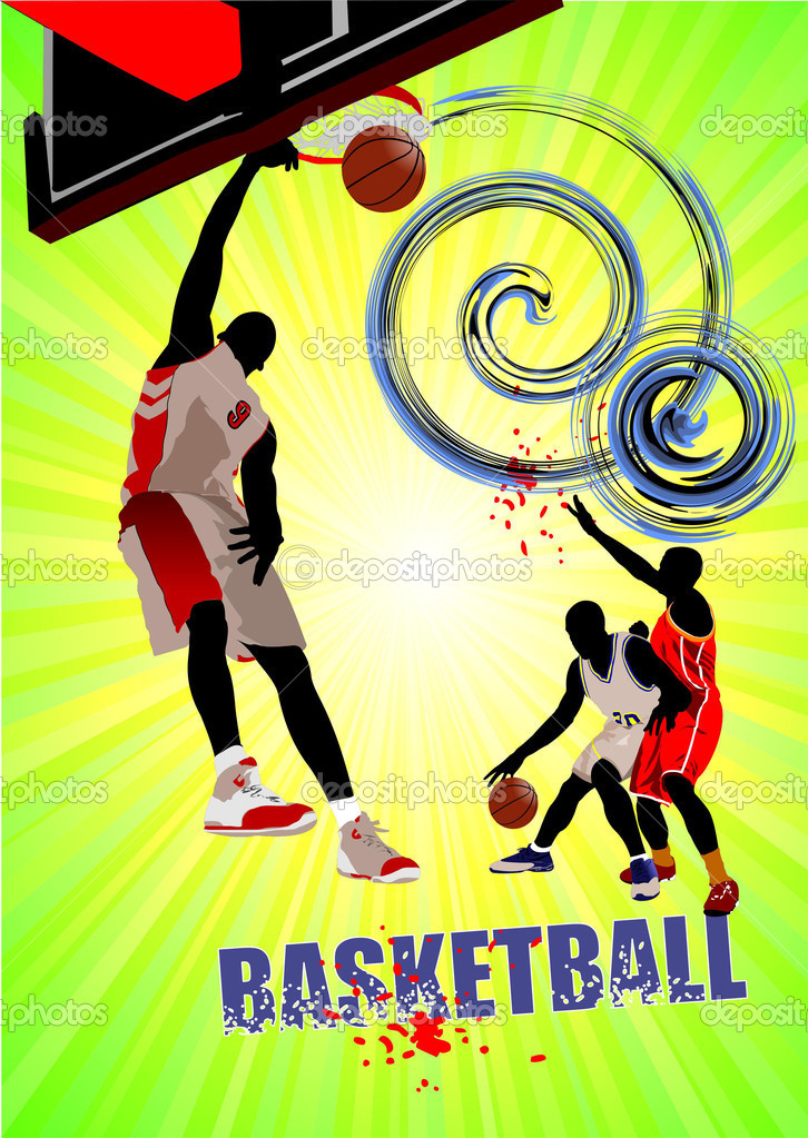 Basketball poster. Vector illustration  Stock Vector #4618097