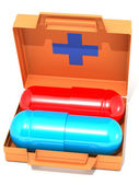 The first-aid set with pills — Stock Photo