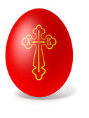 Easter egg with cross — Stock Photo