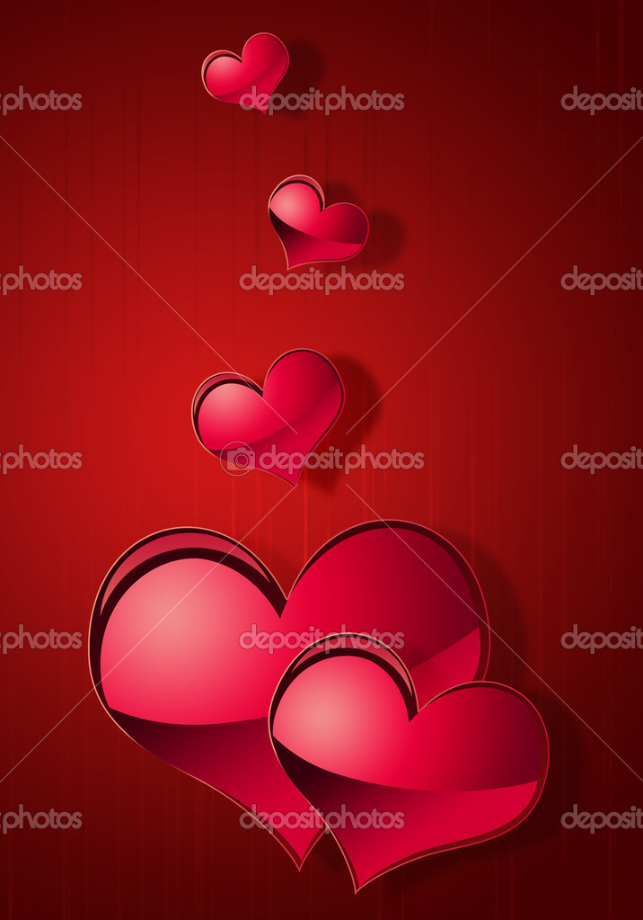 Illustration of abstract background to the day of Sainted Valentine  Stock Photo #4670118