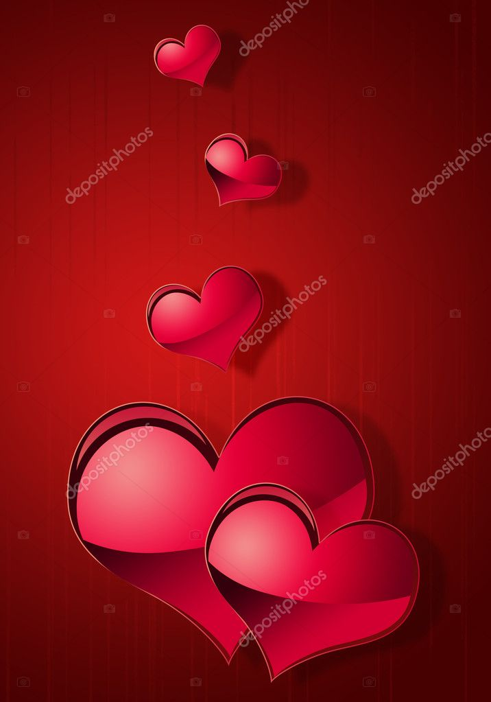 Illustration of abstract background to the day of Sainted Valentine — Stockfoto #4670118