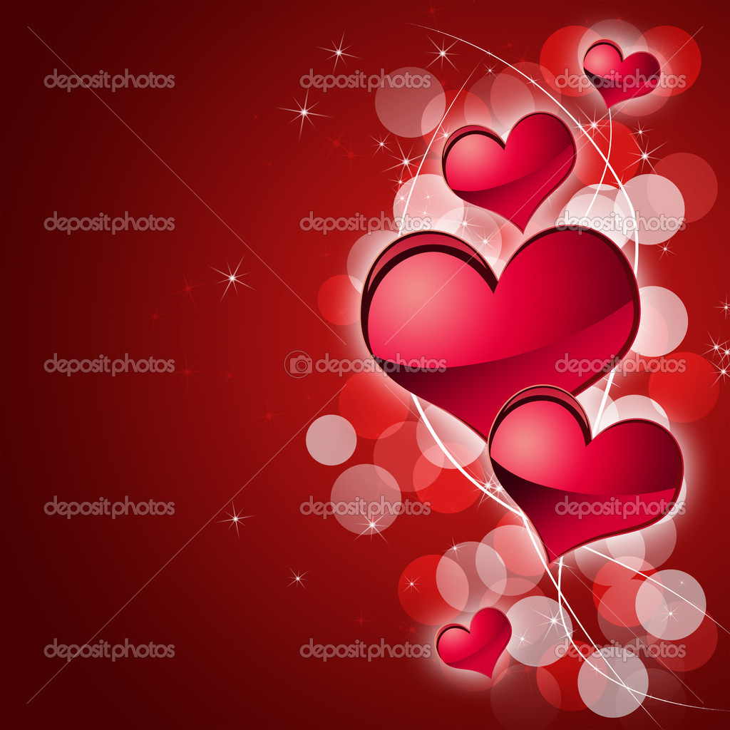 Illustration of abstract background to the day of Sainted Valentine  Stok fotoraf #4670300