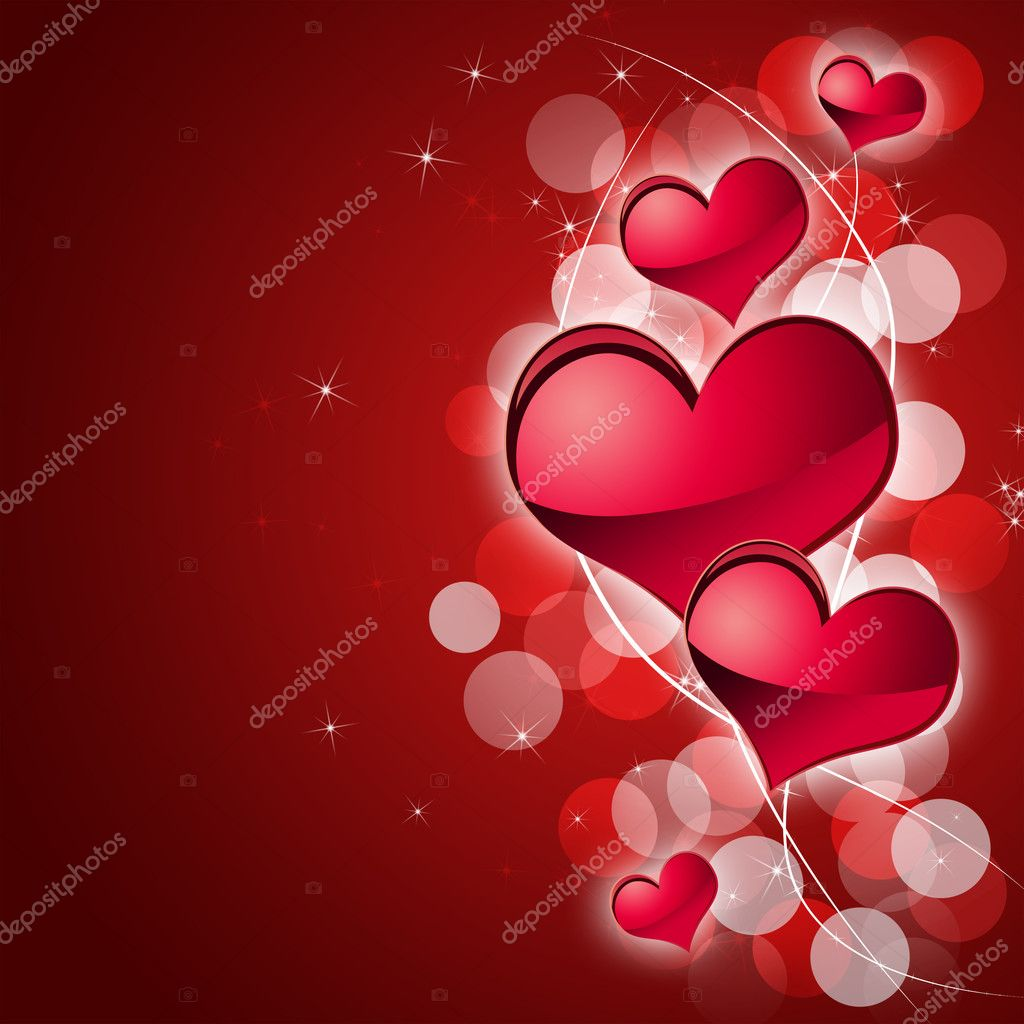 Illustration of abstract background to the day of Sainted Valentine  Stock Photo #4670300