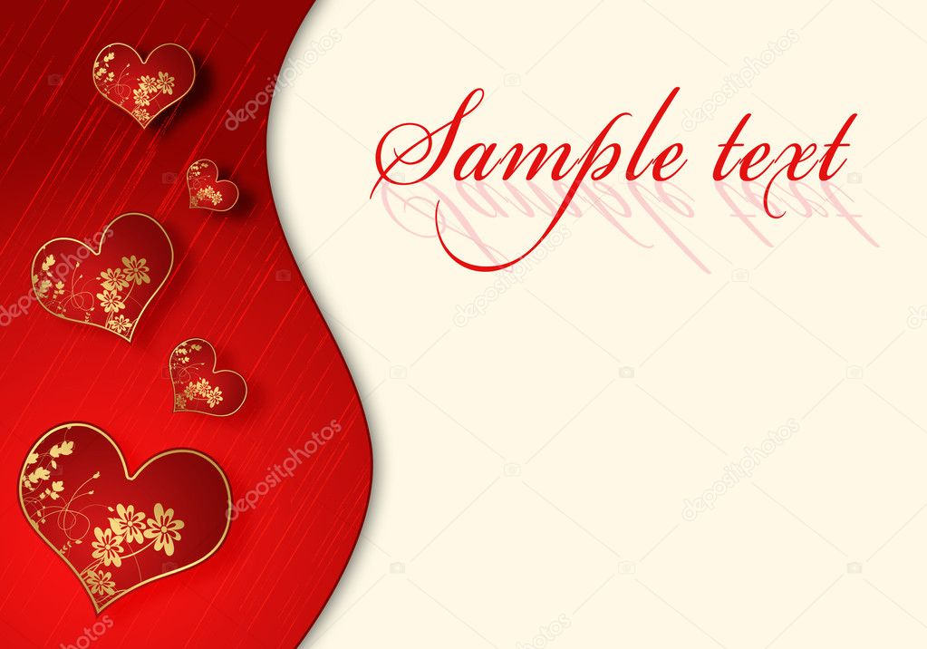 Illustration of abstract background to the day of Sainted Valentine  Stok fotoraf #4670335