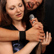 Sing two soloist rock band — Stock Photo