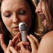 Sing two soloist rock band — Stock Photo #3963818