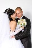 Bride to the bridegroom — Stock Photo
