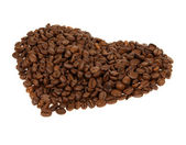Heart from the coffee beans — Stock Photo