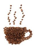 分離のコーヒー豆 — ストック写真