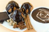 Tortas con chocolate — Foto de Stock