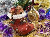 Julgran dekorationer — Stockfoto