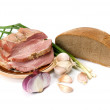 Lard and bread — Stock Photo