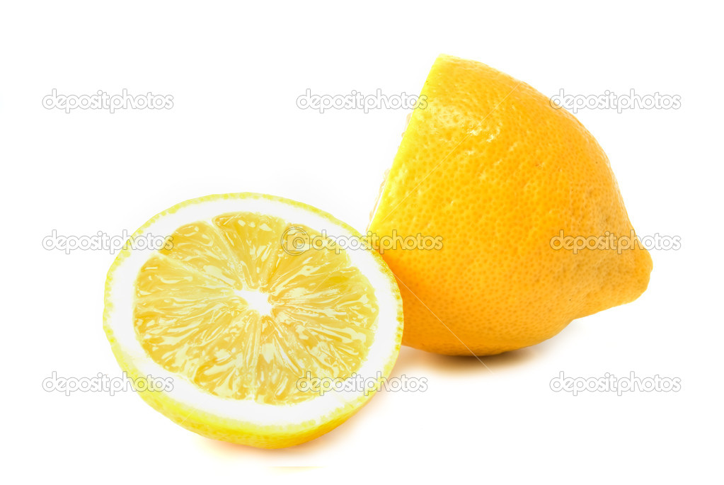 Cuted lemon on white background — Stock Photo #4729470