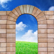 Isolated arch from bricks — Stock Photo #3953929
