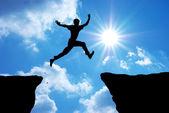 Muž skok — Stock fotografie