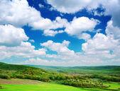 Green meadow in mountain — Stock Photo