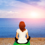 Woman in meditation — Stock Photo