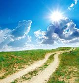 Carril de la carretera al sol — Foto de Stock