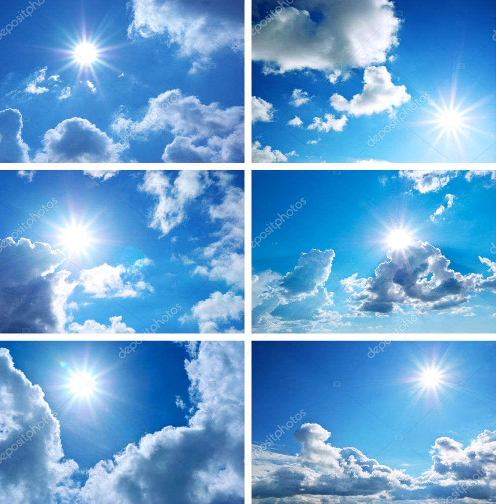 Sky daylight collection. Natural sky composition. Element of design. — Stock Photo #4290293