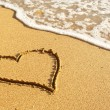 Heart on beach — Stock Photo #5019658