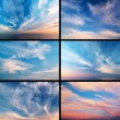 Stock Photo: Sky collection