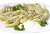 Hot boiled pasta — Stock Photo