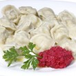 Royalty-Free Stock Photo: Boiled dumplings on a plate