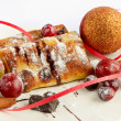 Royalty-Free Stock Photo: Chrismas pancake and ball