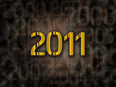 2011 year grunge background — Stock Photo