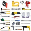 Stock Photo: Tools set