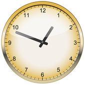 ベクトル ゴールド時計 — ストックベクタ