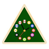Wall clock Billiards — Stock Vector