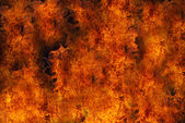 Burning fire close-up, may be used as background — Stock Photo