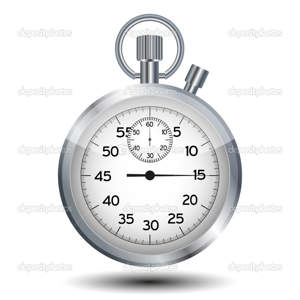 Stop watch isolated on a white background — Stock Vector #4970495