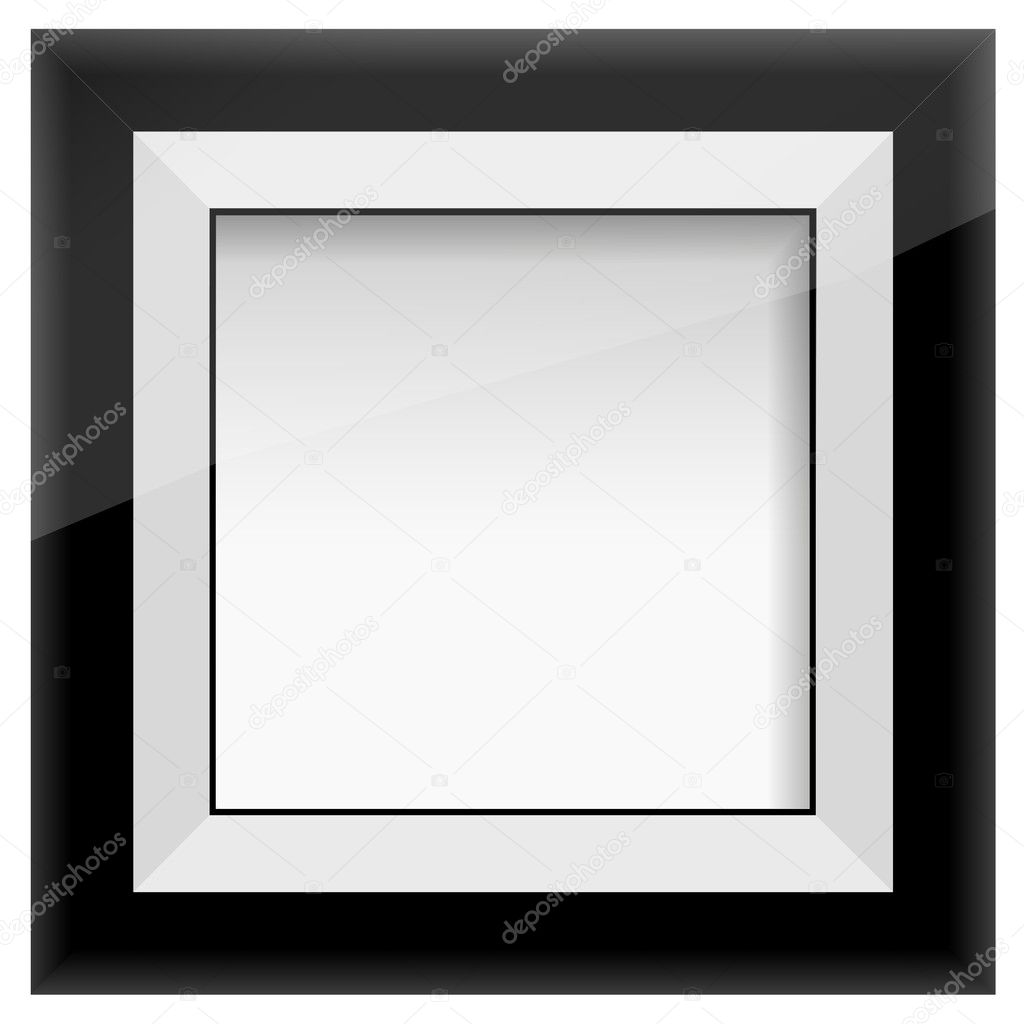 Picture frame, isolated with clipping path. — Stock Vector #4976377