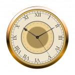 Vintage vector wall clock — Stock Vector