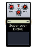 Guitar Pedal — Stockvector