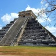 Chichen Itza ruins. Pyramid of Kukulkan (El Castillo) - Stock Photo