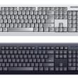 Computer keyboard in white and black color - Stok Vektör