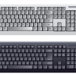Computer keyboard in white and black color - Векторная иллюстрация