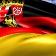 Flag of Rhineland-Palatinate — Stock Photo